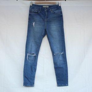 Topshop Jamie Skinny Blue Jeans Denim W28 L30